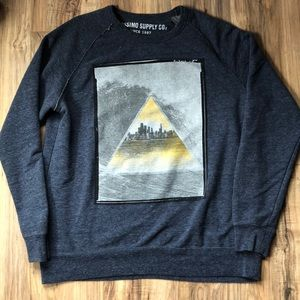 Mossimo Blue Athletic Fit Graphic Sweatshirt XL